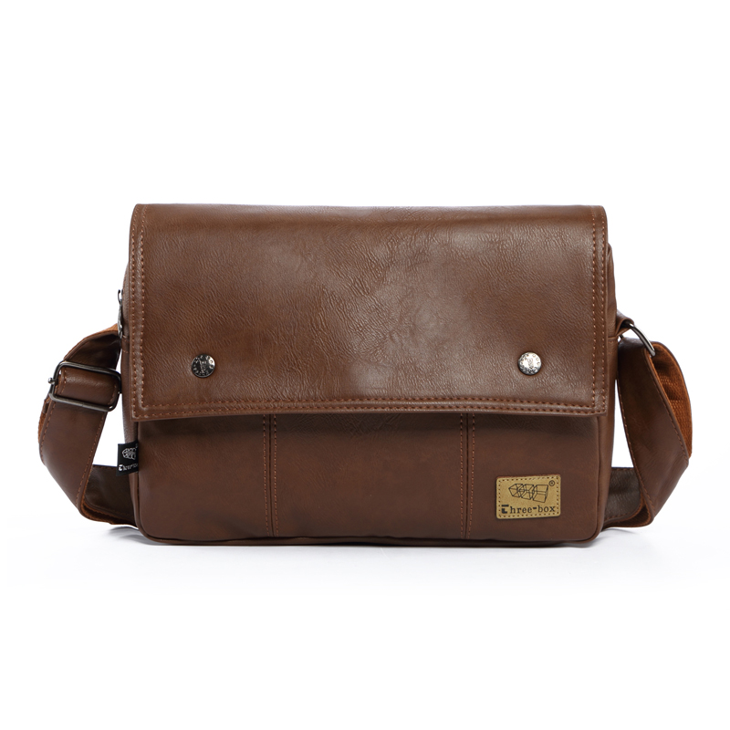 Men's Fashion Business Briefcase Travel Shoulder Bags Casual Men Crossbody Messenger Bag PU Leather School Book Bag for Boys men pu leather messenger crossbody bag briefcase shoulder bag pure color simple business hand bag free shipping