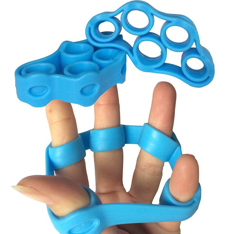 2 шт. / Лот Новый Arrial Finger Stretcher Рука Сопротивление Группа для Сила Сила Йога Упражнение Случайный Цвет Доставки