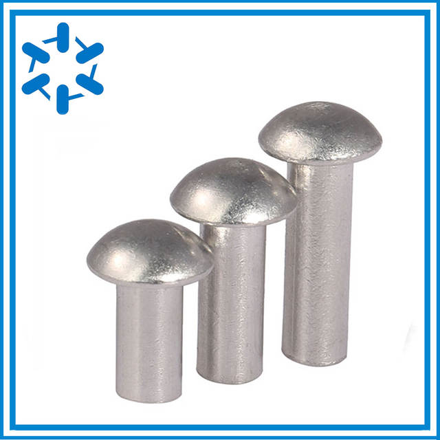 500pcs/lot Aluminium pan-head rivet round pan head rivet solid rivets  3*4/5/6/8/10/12/16/20 flat round head rivet