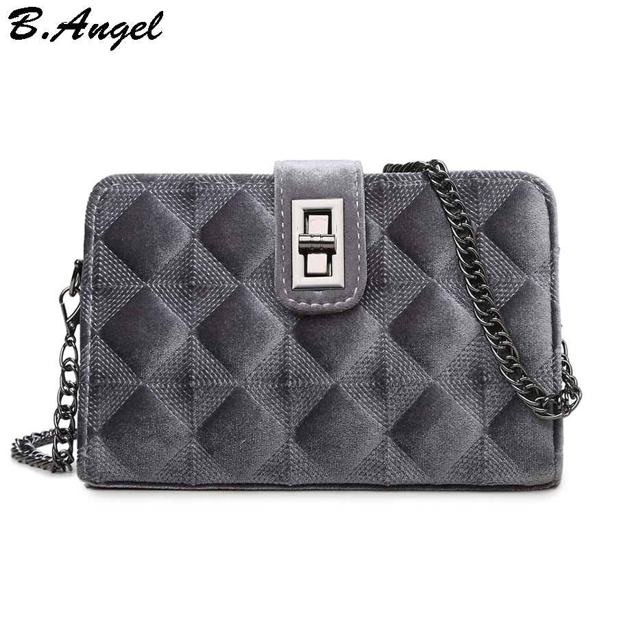 Famous Brand Elegant Chain Bags for Women Small Messenger Bags for Women Luxury Shoulder Bag for Evening Party Velour Material 2017 new mini shoulder messenger bag famous brand luxury elegant bead evening bag clutch pearl handbag bride bags for wedding