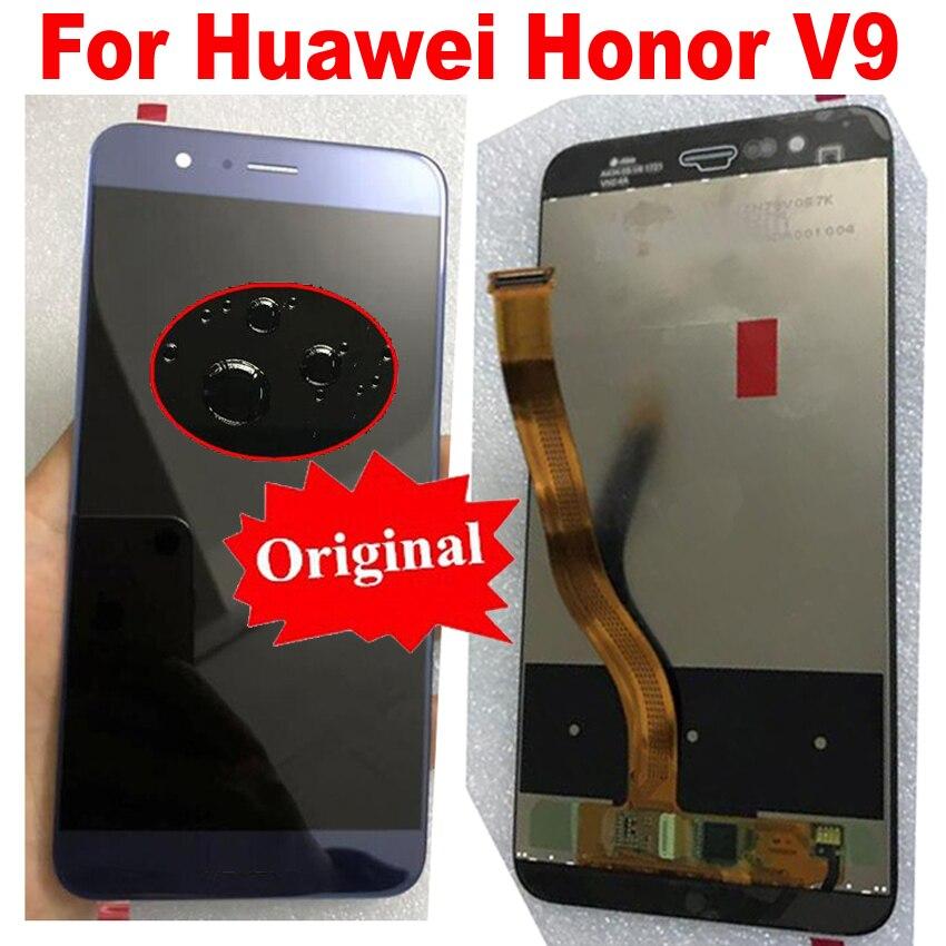 Capteur d'assemblage de numériseur d'écran tactile d'affichage à cristaux liquides en verre d'origine + cadre pour Huawei Honor 8 Pro/Honor V9 DUK-L09 DUK-AL20