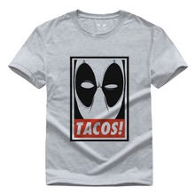 Neue Sommer 2016 Deadpool T-shirt Männer Kleidung Kurzarm Printed T-shirt DIY Design T-shirts