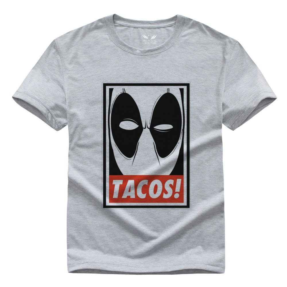 Black t shirt diy - New Summer 2016 Deadpool T Shirt Men Clothing Short Sleeve Printed Custom T Shirt Diy
