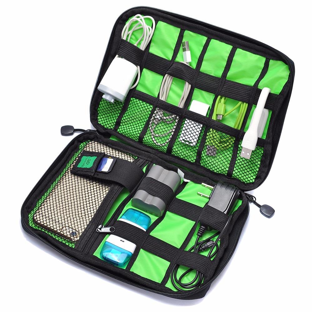 Resväskor Praktiska hörlursdragen Förvaringsväska Power Line Organizer elektrisk bärbar dator kabel väska flash disk digitala fodral