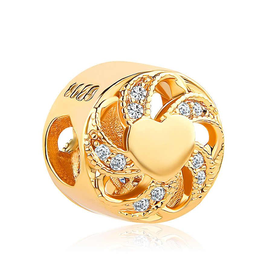 MOQ 1pc free shipping gold european wedding ring crown pumpkin car diy bead Fit Pandora Charm Bracelet for women jewelry EL149