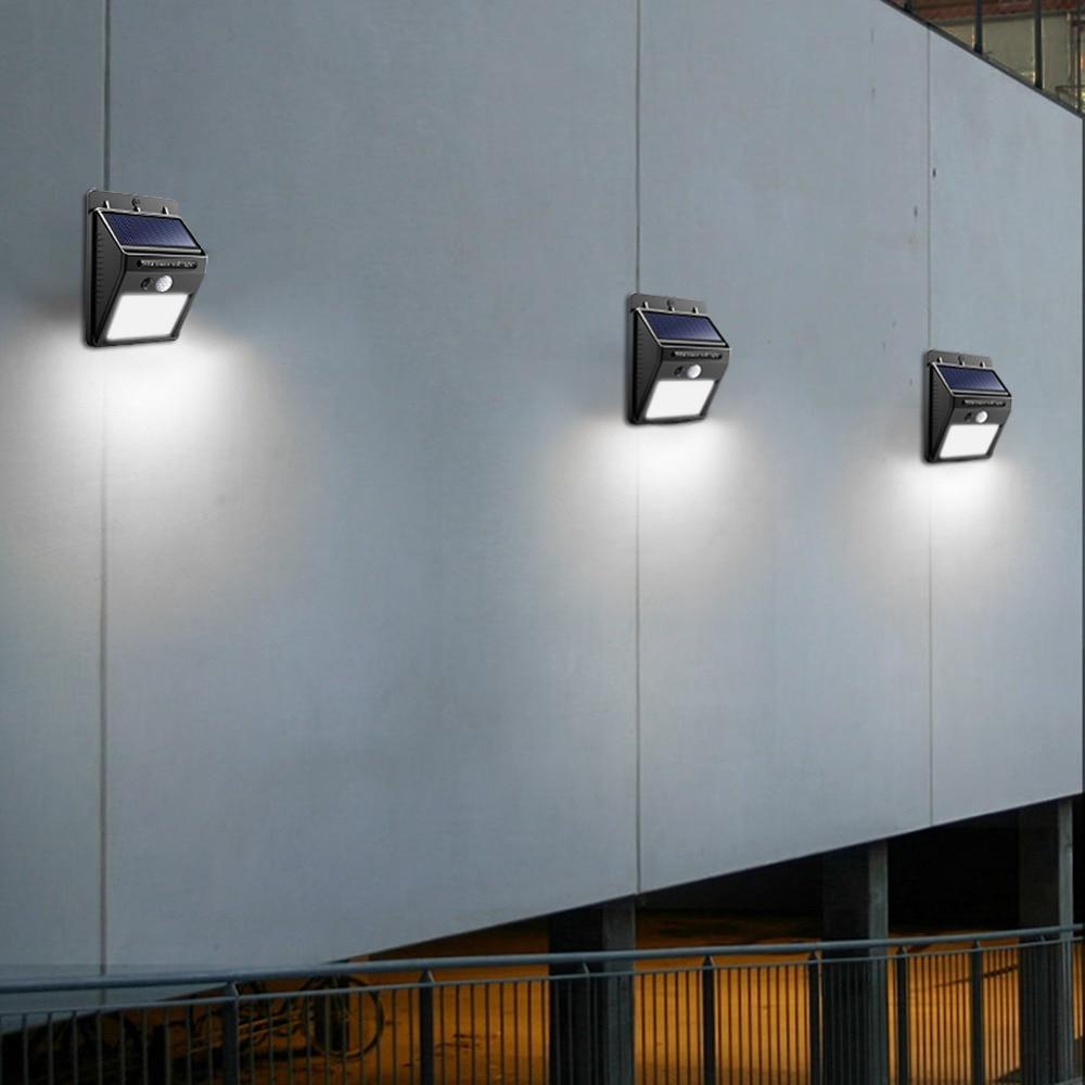 Image 5 - Night Light Solar Powered 100 35 20 LED Wall Lamp PIR Motion Sensor & Night Sensor Control Solar Light garden outdoor lighting-in LED Night Lights from Lights & Lighting