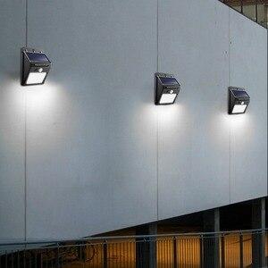Image 5 - Night Light Solar Powered 100 35 20 LED Wall Lamp PIR Motion Sensor & Night Sensor Control Solar Light garden outdoor lighting
