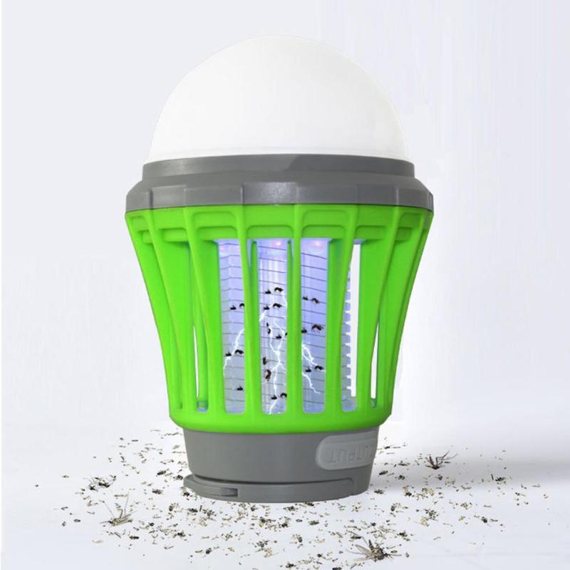 Solor Power Outdoor Mosquito Killer Lamp USB Charging Anti Mosquito Light Solar Camping Ligh Insect Mosquito Killer ...