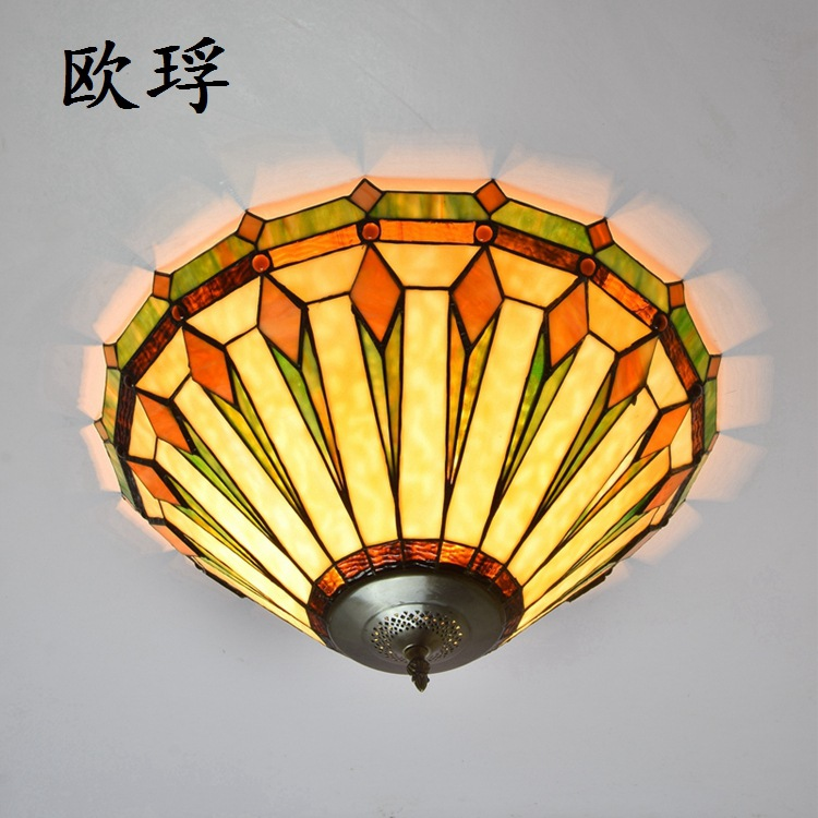 European style retro Tiffany large ceiling light living room bedroom entrance hall 22 inches