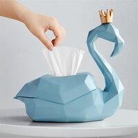1PC Minimalist Creative Flamingo Shape Desktop Paper Napkin Tissue Box Container Holder For Living Room Tea Coffee Table Decor