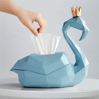 1PC Minimalist Creative Flamingo Shape Desktop Paper Napkin Tissue Box Container Holder For Living Room Tea Coffee Table Decor
