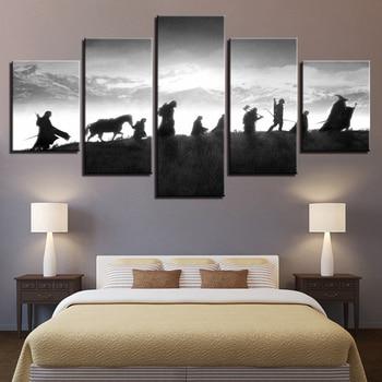 HD домашний декор с модульной картины 5 панель Властелин колец характер Tableau фотографии стены книги по искусству Холст Современные плакаты