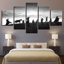 Купить с кэшбэком HD Home Decor Printed Modular Paintings 5 Panel Lord Of The Rings Character Tableau Pictures Wall Art Canvas Modern Posters
