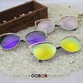 Oculos de sol senhoras oobon moda retro vintage cat eye óculos de sol espelho feminino. Marca de luxo Designer Óculos de Sol Para As Mulheres