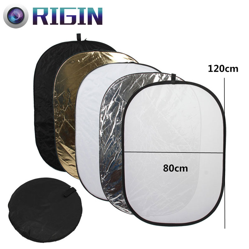 80*120CM/31x47 Studio Flash Accessories 5in1 Gold/Silver/Black/White/Translucent Reflect ...