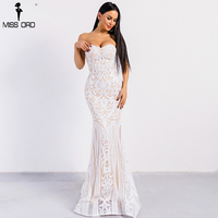 Missord 2018 Sexy Elegant Bra Retro Geometry Sequin Backless Dresses Females Bodycon Maxi Party Dress FT8949
