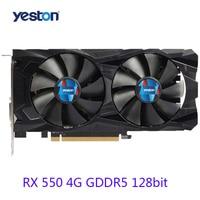 Brand New Yeston RX 550 4G GDDR5 Graphics Card 14nm 1183MHz 128Bit With HDMI DP DVI