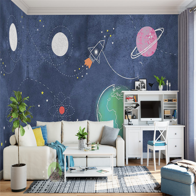 custom 3d modern photo wallpaper fashion large stereoscopic wall mural bedroom kids room background cartoon universe wallpaper cartoon animation child room wall mural for kids room boy girl bedroom wallpapers 3d mural wallpaper custom any size