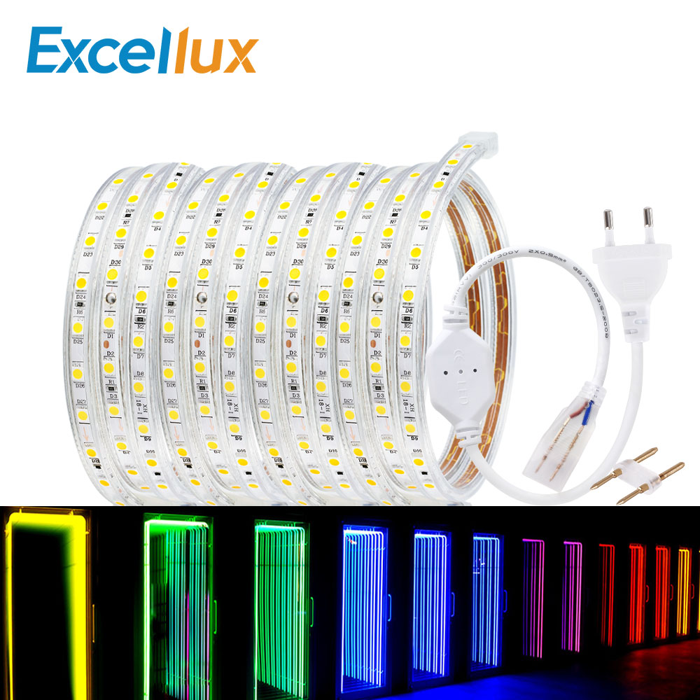 50 м рулон светодиодные полосы света 60 светодиодов/м водонепроницаемый светодиодный, неоновый свет веревки трубки можно резать гибкие полосы для внутреннее и наружное освещение Декор