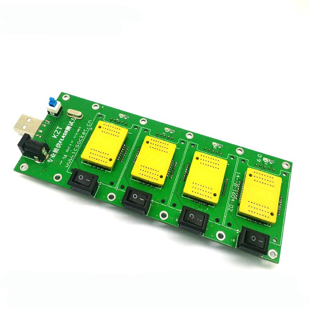 Carte de test universelle 4 en 1 BGA152/132/100/63 TSOP48 NAND adaptateur flash AU6989 prise de programme de test d'interface FLASH USB