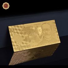 2003 Year 1 Million Romania's Banknote Gold Plated Decoration Craft Metal gold Banknote(China)