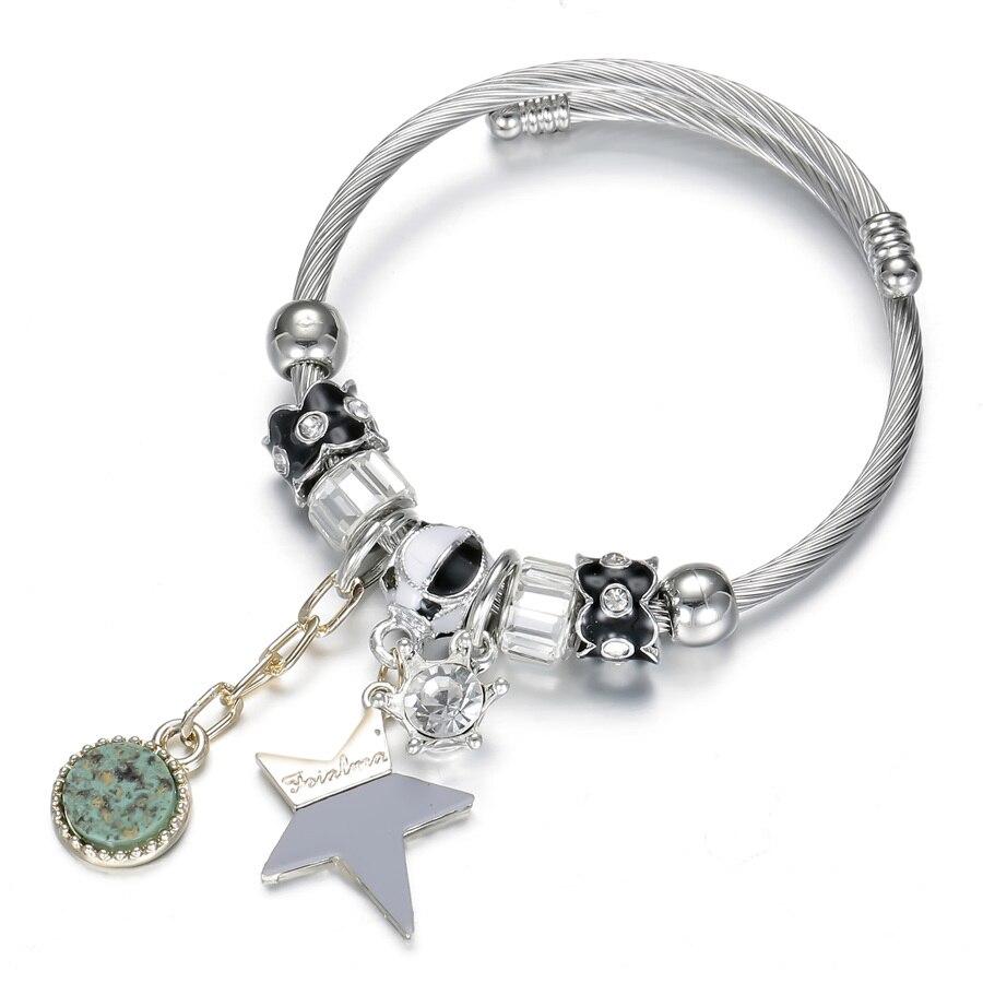 WOMEN/'S STAINLESS STEEL STAR JEWELLERY  BRACELET SILVER