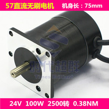 Drone accessories Brushless Motor 57BL75S10-225TF9 24V 100W small brushless motor for sale
