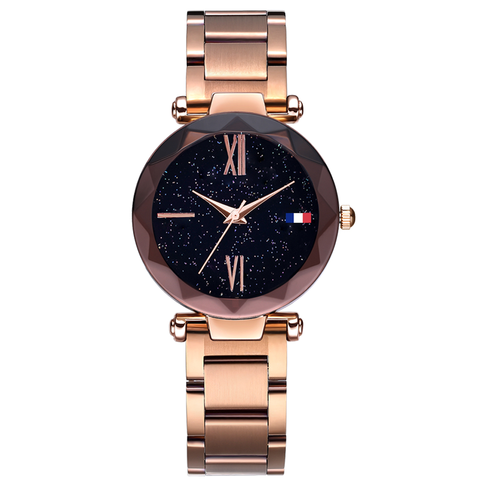 Hannah martin women watches quartz stainless steel magnetic watchband star nebula dial luxury for Magnetic watches