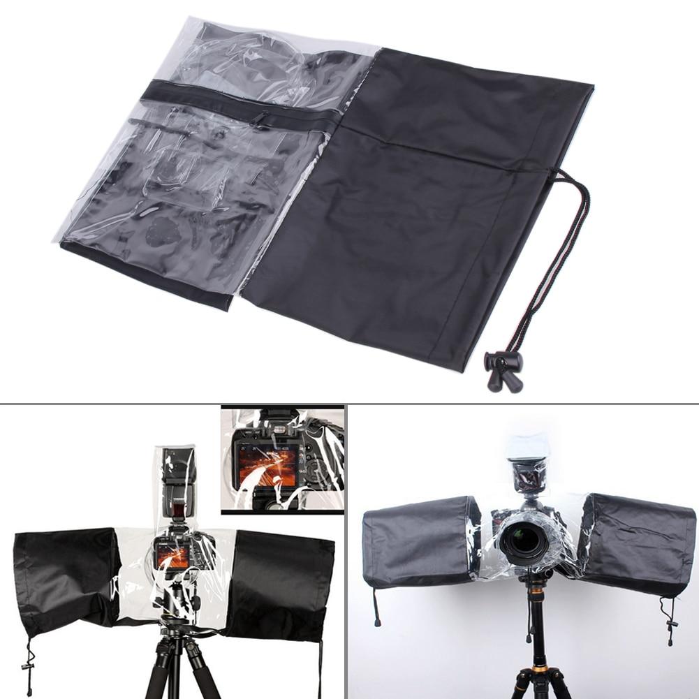 Accessories & Parts Waterproof Camera Cover Anti-dust Protector Rain Water Case Camera Rain Cover Raincoat Transparent Black For Canon 5d3 70d 6d Camera/video Bags
