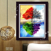 The Tree With Four Seasons DIY 5D Diamond Mosaic Diamond Painting Cross Stitch Kit Diamonds Embroidery