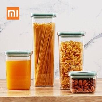 Xiaomi Youpin BergHOFF емкость для хранения пищи 2.4L кухонные Герметичные банки для пищевых продуктов, влагостойкая банка для хранения свежей пищи