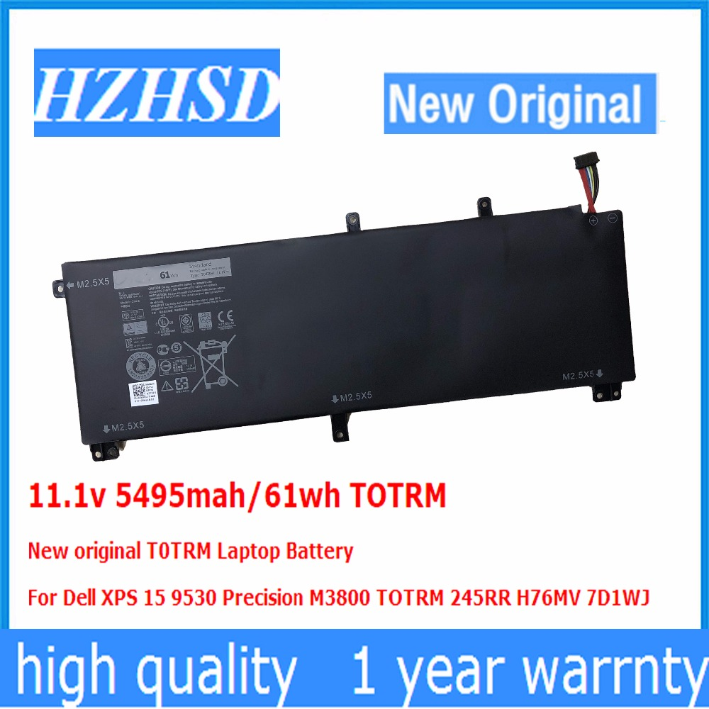 11.1v 5495mah/61wh TOTRM New original T0TRM Laptop Battery For Dell XPS 15 9530 Precision M3800 TOTRM 245RR H76MV 7D1WJ цена