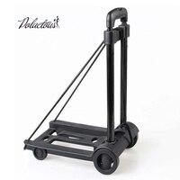 Folding Portable Luggage Carts Mini Aluminum Alloy Suitcase Carts, Family Travel Shopping Small Cart Cart Case