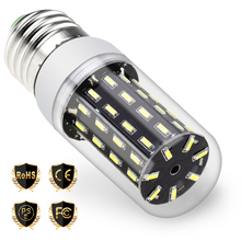 E27 220V Led Bulb E14 230V Lamp 3W 5W 7W 9W 12W 4014SMD Corn Light 240V 38 55 78 88 140leds Bedroom Kitchen lampada led