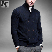 Free shipping mens turn-down collar sweater solid color 13306