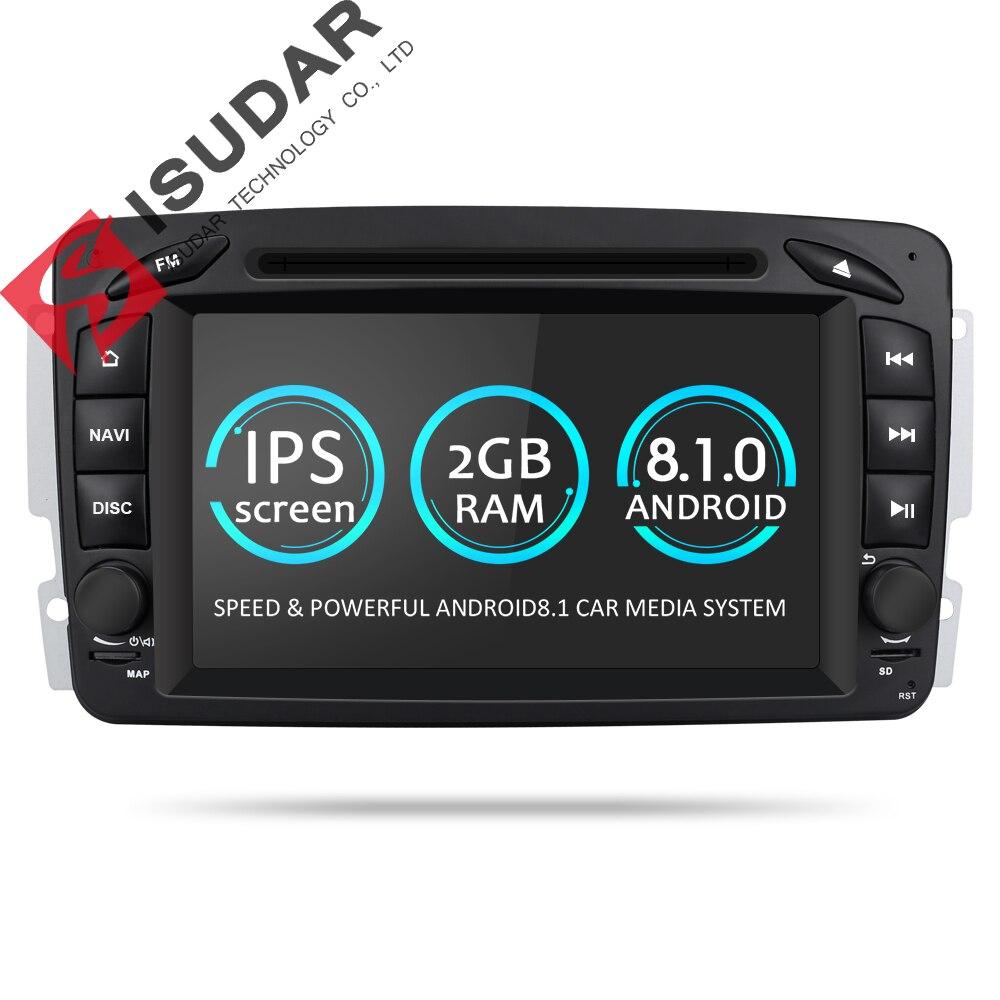 Isudar Автомагнитола с Сенсорным 7 Дюймовым Экраном 2 Din на Android 7.1.1 для Автомобилей Mercedes/Benz/W209/W203/M/ML/W163/Viano/W639/Vito/Vaneo Радио