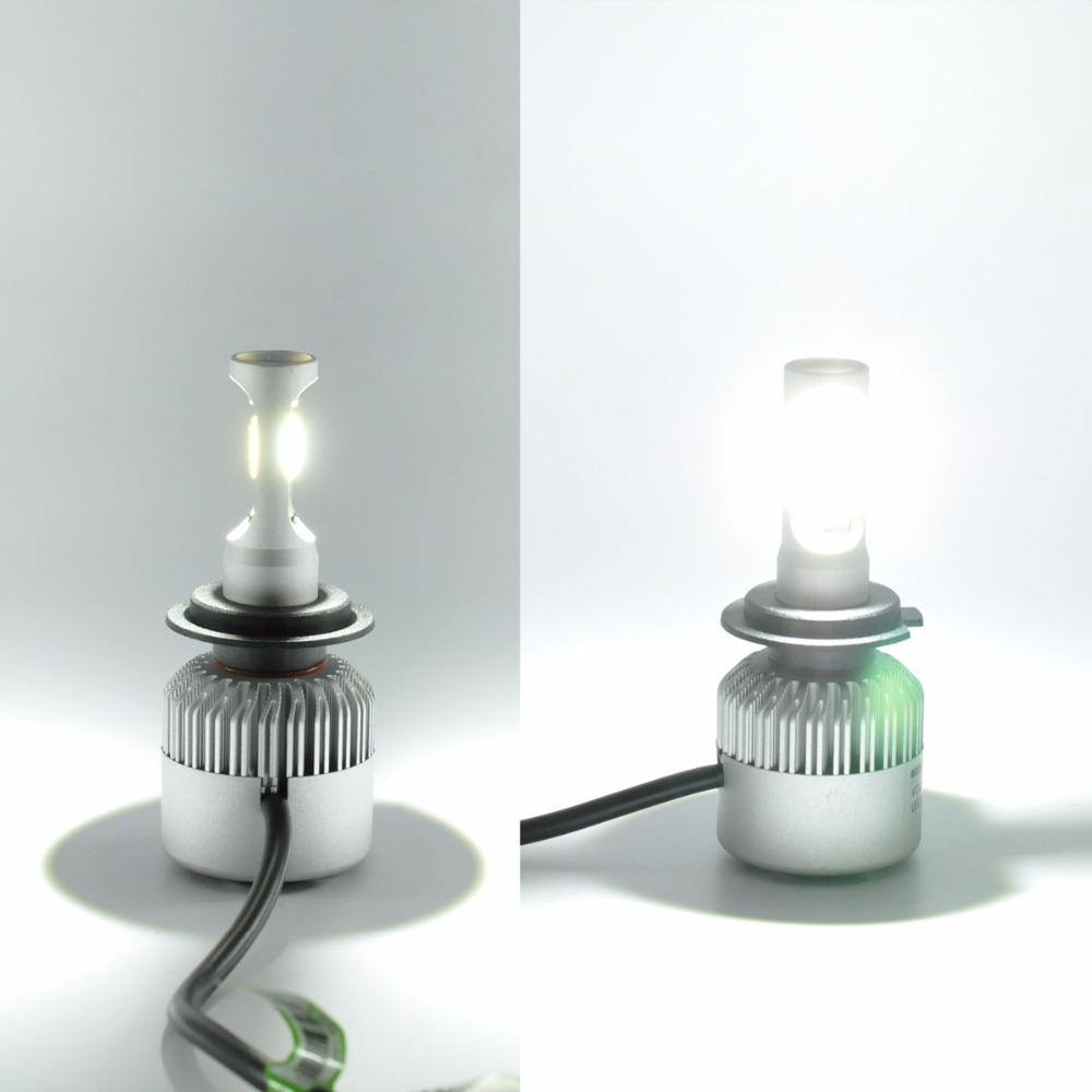 AutoEC 1set S2 42W H7 H11 9005 9006 COB LED İşıq lampaları - Avtomobil işıqları - Fotoqrafiya 6
