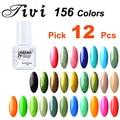 12pcs/lot, Fantastic 156 Colors Tivi Soak Off Nail Art 5ml UV LED Nail Gel Polish Gorgeous Colors Long Lasting Up To 30 Days