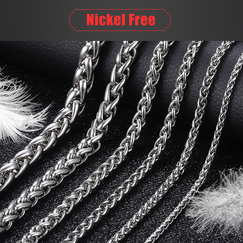 Fashionable Men's Stainless Steel Silver Necklace