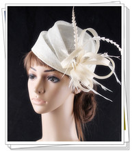 17 colors fascinating sinamay material fascinator headpiece event headwear dance hat suit for all season FNR151261