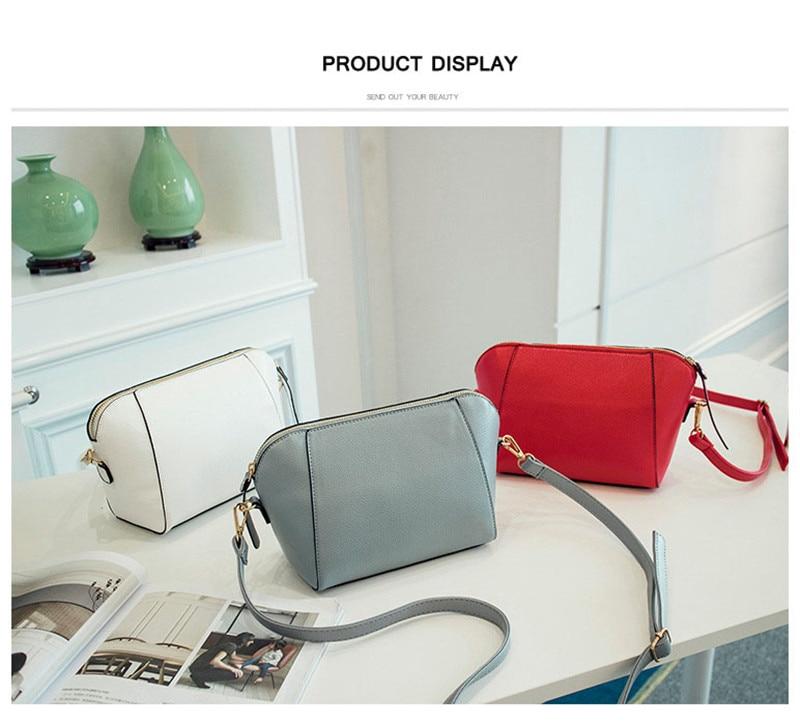 Trendy Japanese and Korean simple shell bag Fashion matches everything female bag small bag single shoulder Messenger bag 40