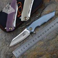 Kevin john origina llibing M390 Flipper faca Dobrável alça De Titânio lâmina Tático ao ar livre de acampamento de sobrevivência Facas ferramentas EDC