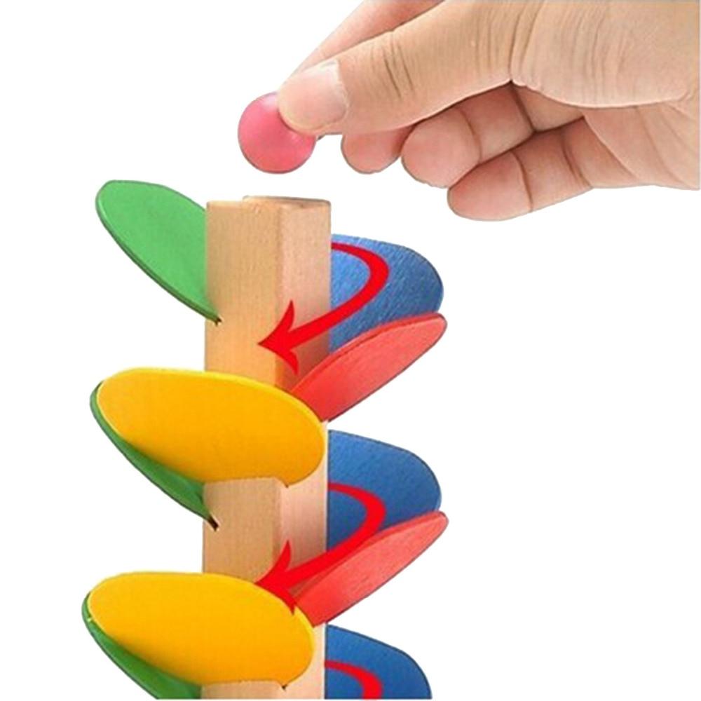 1 Set Blok Pohon Kayu Marmer Ball Run Track Permainan Kanak-kanak - Mainan pembinaan - Foto 6