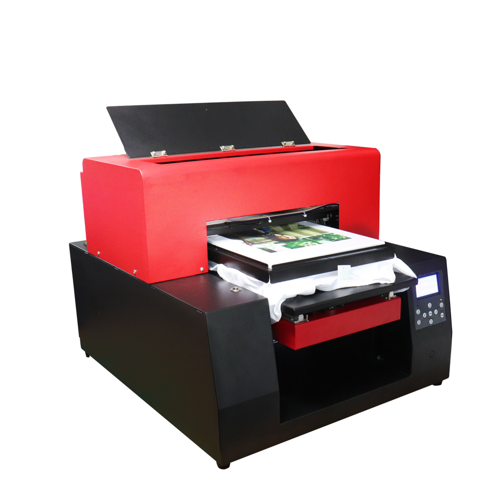 DIY T-Shirt Printer A3 size Flatbed Printer Clothes Printing Machine for T-shirt Phone Case 6 color Print on Dark Light T shirt