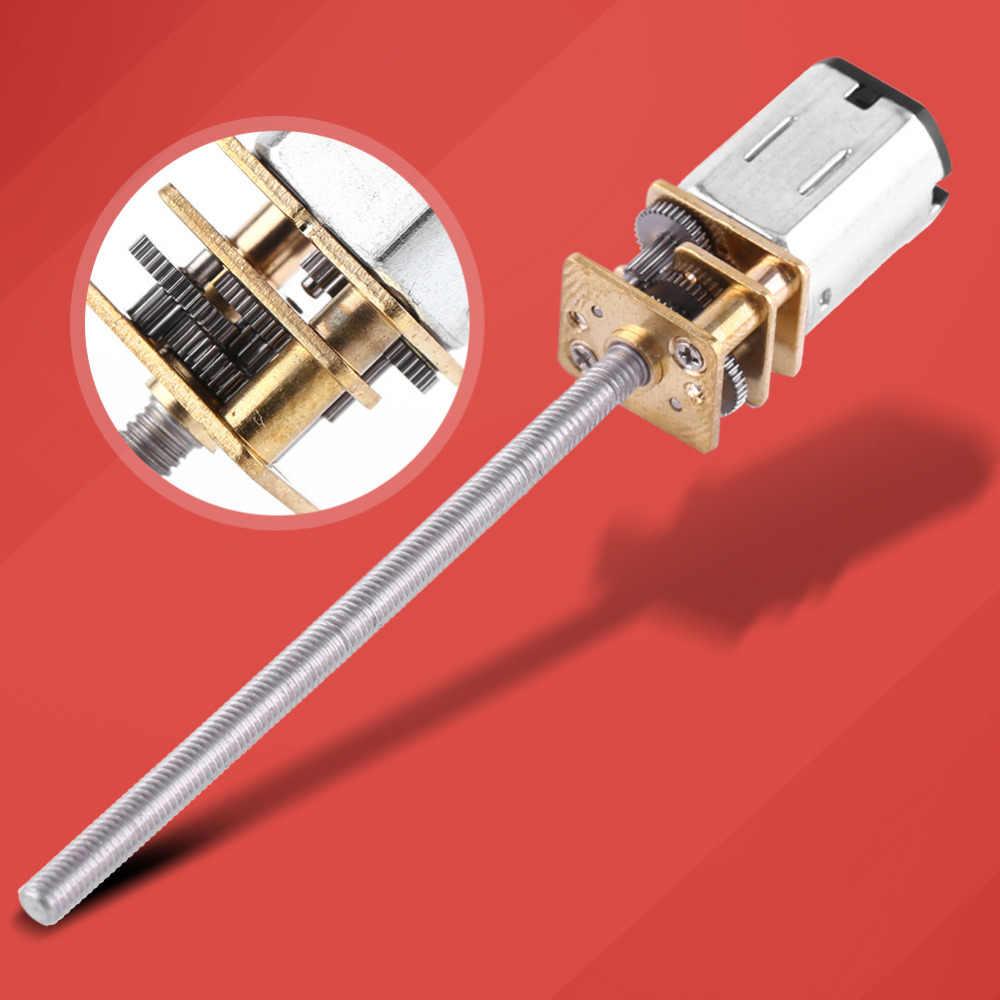 DC 6V Gear Motor with Long M3*55MM Lead Screw Thread Output Shaft 30RPM