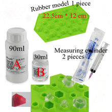 Два компонента 120 мл эпоксидная смола клей B объемных смолы красивый прозрачный кристалл алмаза форма резиновые формы