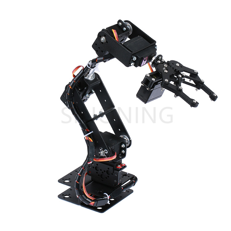 6 DOF Robot Manipulator Metal Alloy Mechanical Arm Clamp Claw Kit MG996R DS3115 for Arduino Robotic Education 7 dof robot arm metal manipullator mechanical arm all metal structure for arduino robotic education