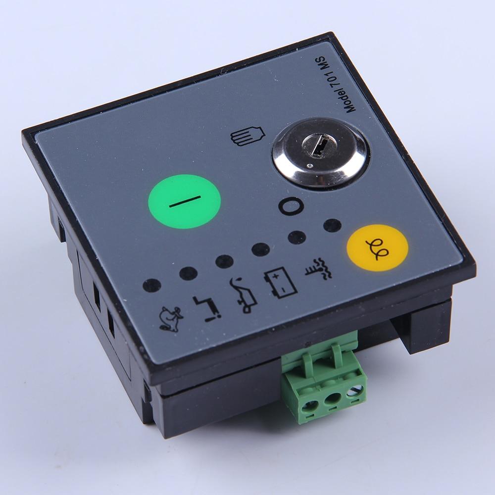 Manual start generator controller 701 autostart Module motor engine electronic charge control board diesel genset parts MS701 mebay 501k manual board key start generator control module