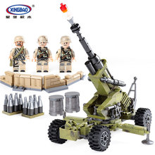 XingBao 06011 Genuine 350Pcs Military Series The Scorpion Cindy Cannon Set Building Blocks Bricks Educational DIY Toys Model