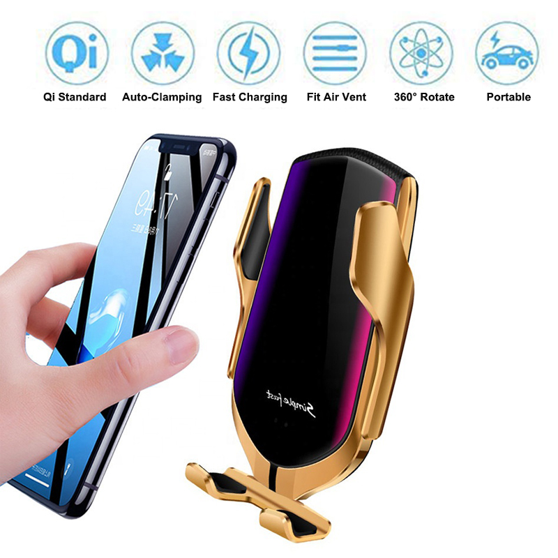 10W Qi Car Wireless Charger for iPhone X XS Max Automatic Fast Charging Car Phone Holder Mount for Samsung Galaxy S10 S9 S8 in Car Chargers from Cellphones Telecommunications